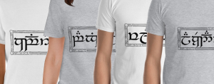 Tengwar on t-shirts for sale!